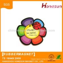 China supplier soft flexible Round Rubber fridge Magnets wholesale