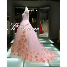 1A416 Pure Girl Sweethear Una línea de vestidos de baile rosa vestido de noche vestido de fiesta