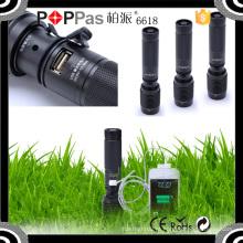 6618 Xml T6 5V USB Power Banco Alta potência LED Lanterna LED recarregável