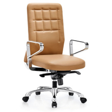 Manager Type Metal Clerk Chair for Office Staff with Leather Padding