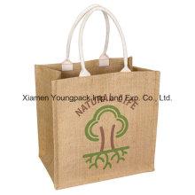Custom Eco-Friendly Reusable Natural Jute Shopping Bag