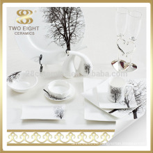 china factory germany fine porcelain dinnerware set , white dish and plate