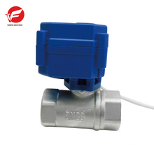 3-way motorized automatic ball flow hydraulic valve directional control