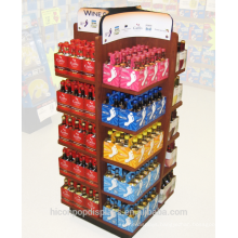 Offering A Complete Solution To The Visual Needs Custom Wood 4-Way Advertising Wine And Beer Promotion Display