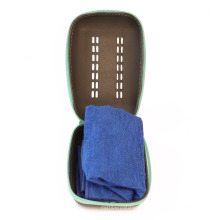 Sport Towel Silicone Case,  Custom Logo Edgeless Gym Microfiber Towel Case With Zipper Pocket
