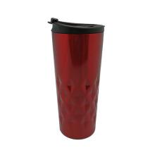 Acolchado de acero inoxidable taza de café vacío rojo, azul 400ml