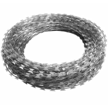 Low Price Cheap Concertina Galvanized Razor Barbed Wire With Pallet For Sale