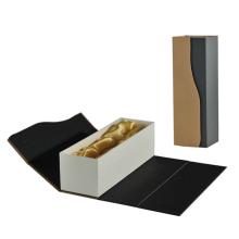 Caixa dobrável de embalagem de vinho para presente com design personalizado