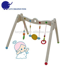 Eco-friendly Safety Wooden Infant Baby Play Activity Gym Equipment