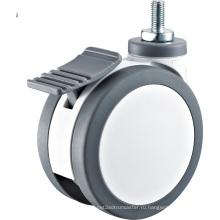 Пластиковые PU Twin Wheels Medical Caster Wheel