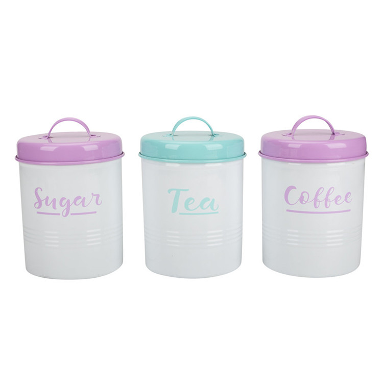 Tea Sugar Coffee Pot Tin