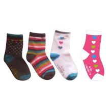 Logo personnalisé bébé coton chaussettes faites de coton Fine Higj chaussettes de qualité