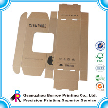 Custom brown corrugated box manufacturing with window