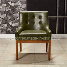 Square Leather Dining Chair with Wooden Leg for Dining Room (SP-HC066)