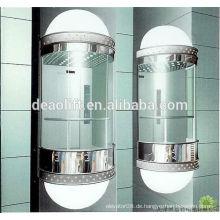 Luxus-Kabine Panorama-Aufzug mit Maschinenraum