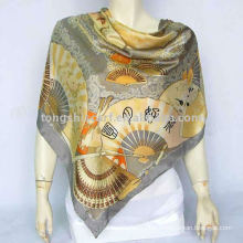100% silk square shawl for promotion