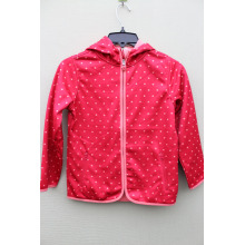 100%POLYESTER BONDED FLEECE GIRL`S JACKET