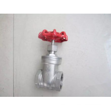 Stainles Steel Female Thread Gate Valve in 200wog (Z15)