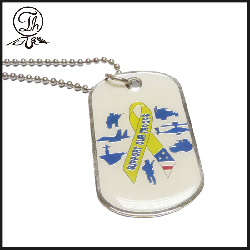 Silver id dog tags imitation jewelry
