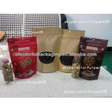 Emballage d'écrous autoclave de poche / casse-croûte alimentaire sac en plastique de zip