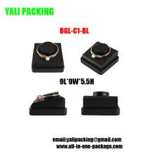 Pulsera de la pulsera de la joyería negra de la PU del Leatherette Dislay el sostenedor (BGL-C1-BL)