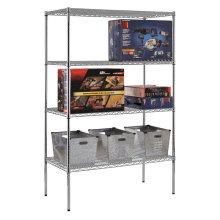 DIY Chrome Heavy Duty Grocery Bin prateleira de armazenamento de arame de aço (CJ12045180A4C)