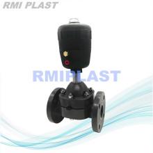 Пластиковый мембранный клапан с пневматическим приводом