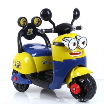 Cute Minions 12V Remote Contral Electric Motorcyle for Kids