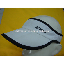 white and red 100% polyester custom sun visor hat and cap with e
