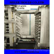 32 Hohlraum-Plastikeinspritzung-Haustier-Vorform-Form mit heißem Läufer (MELEE MOLD-96)