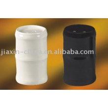 Ensemble de sel et de poivre en céramique bambou JX-80AB