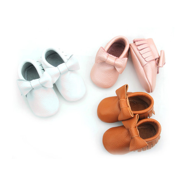 Soft Rubber Sole Baby Shoes Moccasins Newborn