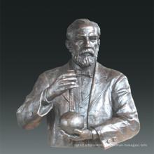 Large Figure Statue Chemist Louis Pasteur Bronze Sculpture Tpls-081