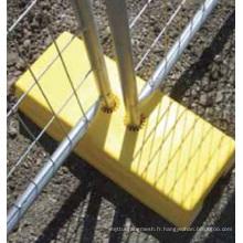 Pieds plastiques de clôture temporaire de qualité portable