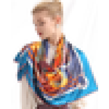 Venta al por mayor de China bufanda de marca de diseño propio 2015 bufanda de seda barato bufanda de impresión de pantalla