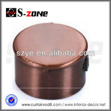 3/4 'Tapas de extremo de la barra de cortina de cobre antiguo, tapas de extremo para la pipa de cobre
