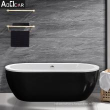 Aokeliya  acrylic modern high quality black freestanding bath tub