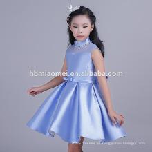 Característica transpirable y niños Grupo de edad color puro vestido azul niña niño