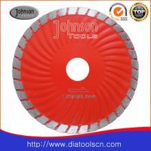Lame de scie Turbo Wave de 125 mm pour la pierre de coupe