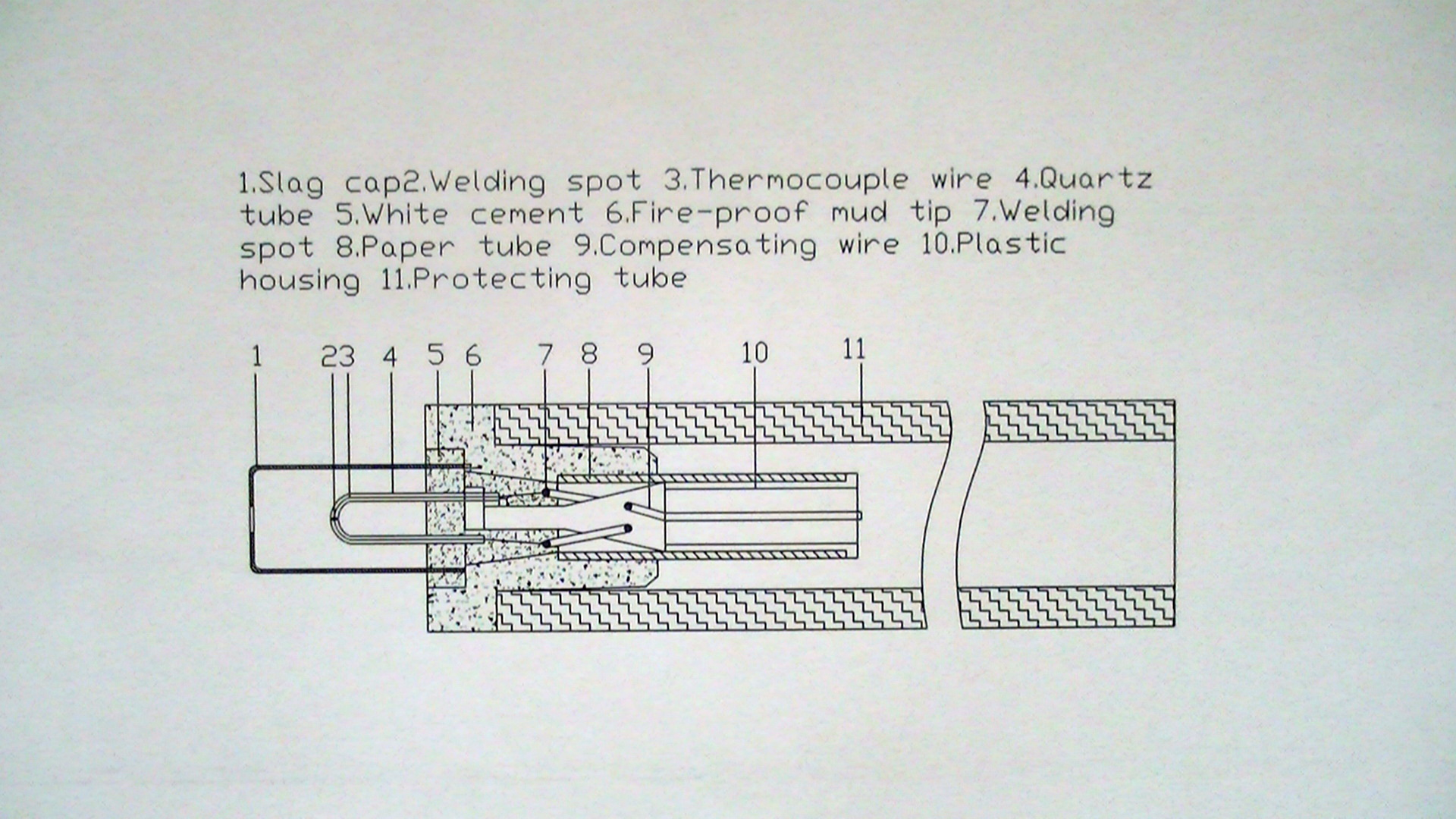 thermocouple structure