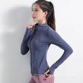 Jaqueta de ginástica com zíper para mulher