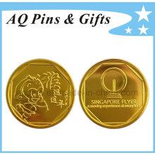 Moneda de plástico Lucky Monkey 2016 con chapado en oro y cápsula