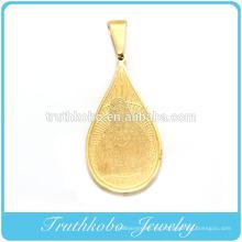 Chapado en oro nuevo diseño cristiano acero inoxidable corrosión san benito religioso colgante Santa madre Maria colgante TKB-P003