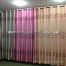 fashion decorative curtain fabric with feather