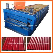 Dx de doble capa de color del panel de techo de chapa de acero que forma la máquina