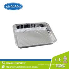 Plateau de rôtissage en aluminium jetable sain à emporter