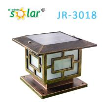 Capuchons de poteau classique porte solaire, lampe solaire de jardin, capuchons de poteau solaire d'aluminium