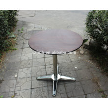 Hotel dinning table with wood table top and stainless steel legs