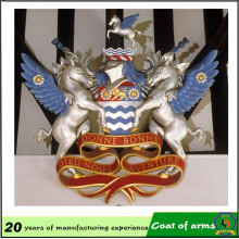 Emblema del caballo 3D popular con material de aluminio
