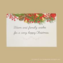 Gute Qualität Kundenspezifische Weihnachtsgruß-Drucken handgemachte kreative Weihnachtskarten